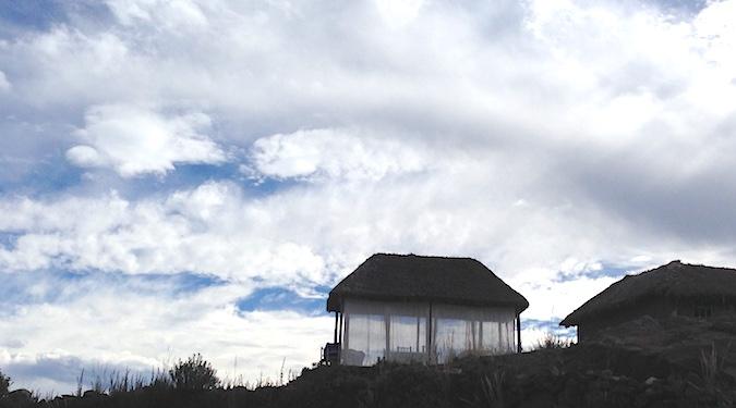タキーレ島にしつらえたガゼボ