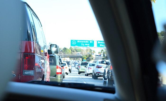 ロサンゼルス名物の渋滞