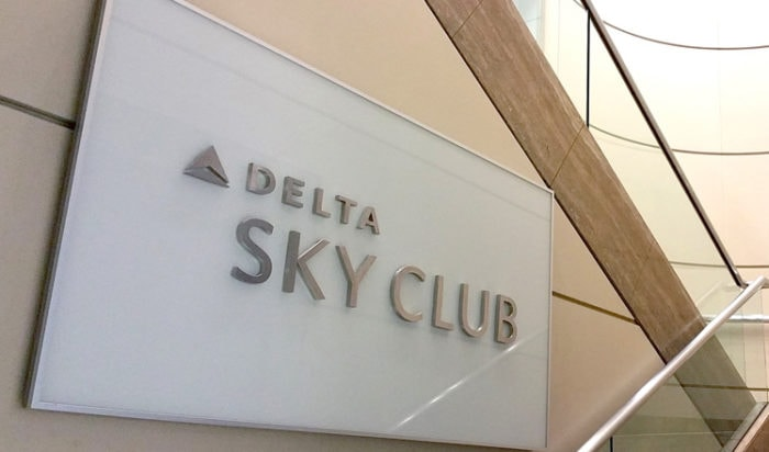 ロサンゼルス空港のデルタの旧ラウンジ