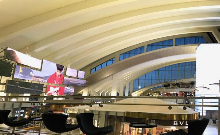 ロサンゼルス空港のKALのラウンジ