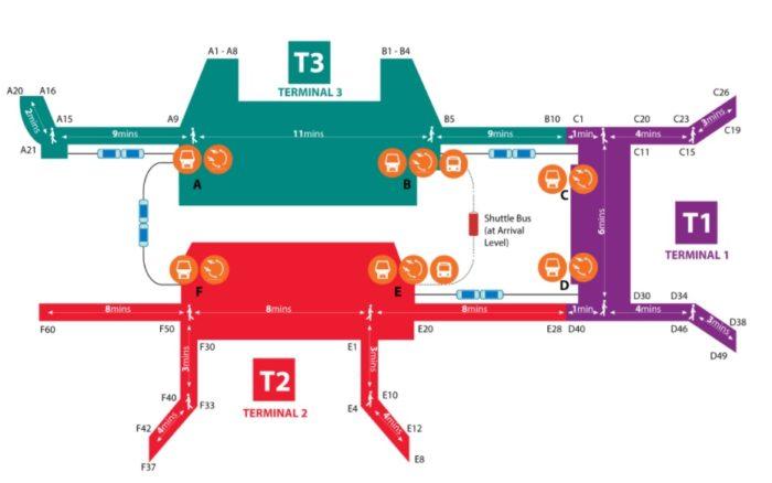 シンガポール空港地図
