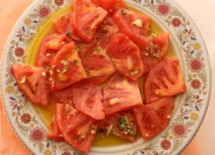 バルの生トマト