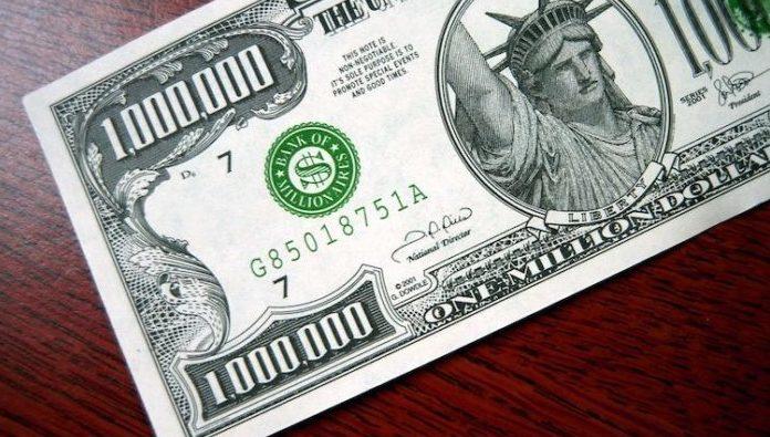 架空の100万ドル紙幣