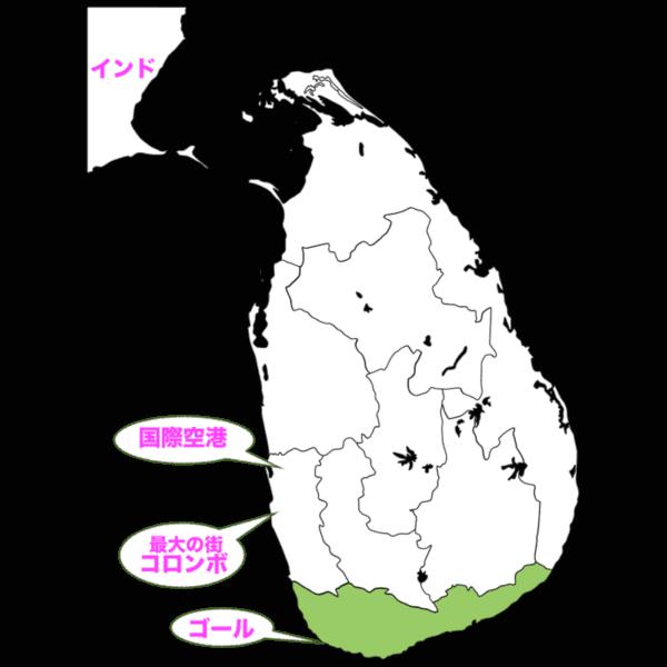 スリランカの地図の画像