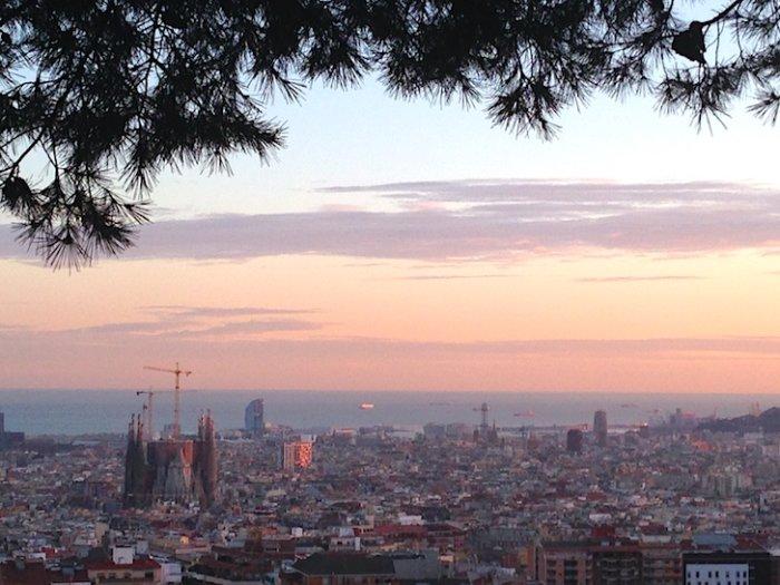 バルセロナの夕暮れ