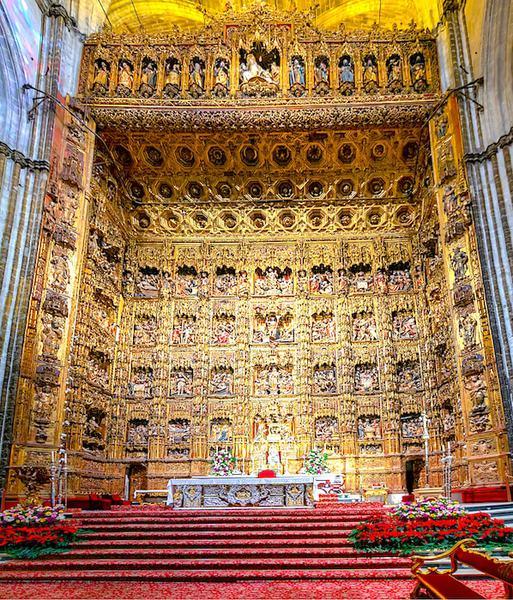 セビリア大聖堂の黄金の衝立の画像