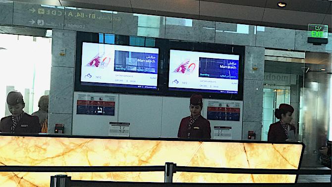 カタール航空カウンター
