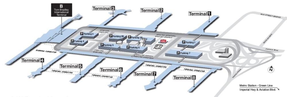 ロサンゼルス空港ターミナル図