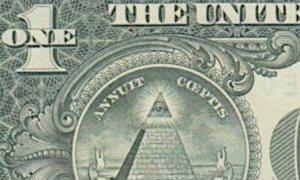 1ドル紙幣の裏に描かれたプロビデンスの目