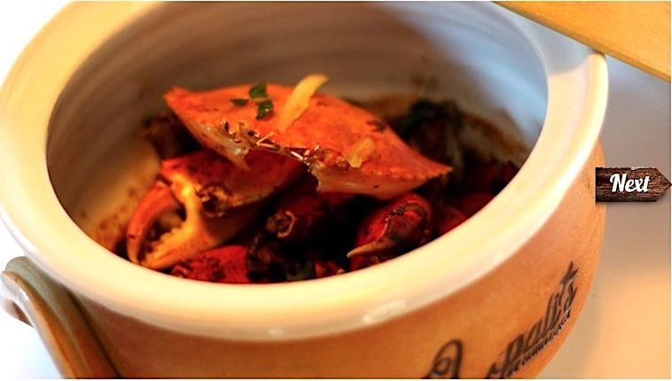 ウパリーズのカニカレー料理画像