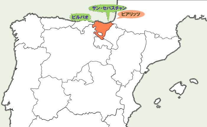 バスク地方地図