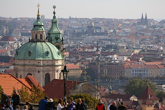 プラハの遠景画像