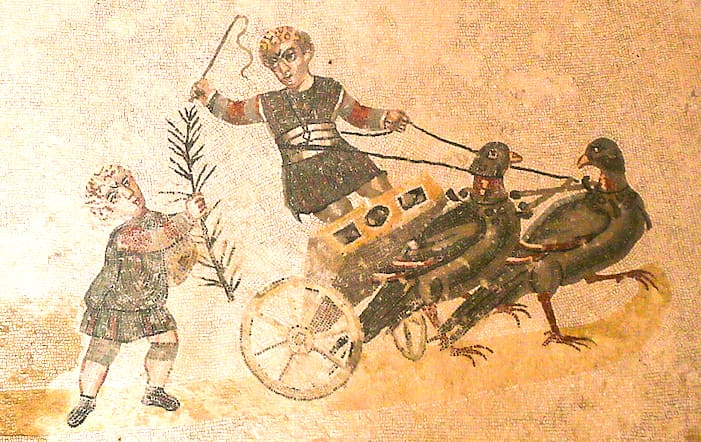 シチリアのモザイク画で子供たちの画像