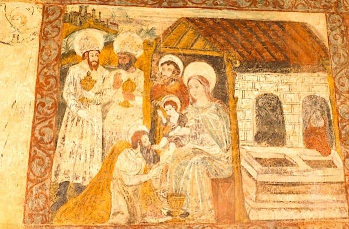 回廊のフレスコ画の画像
