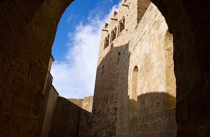 ロアーレ城の屋上への通路