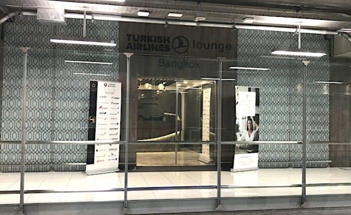 トルコ航空のラウンジの入り口画像