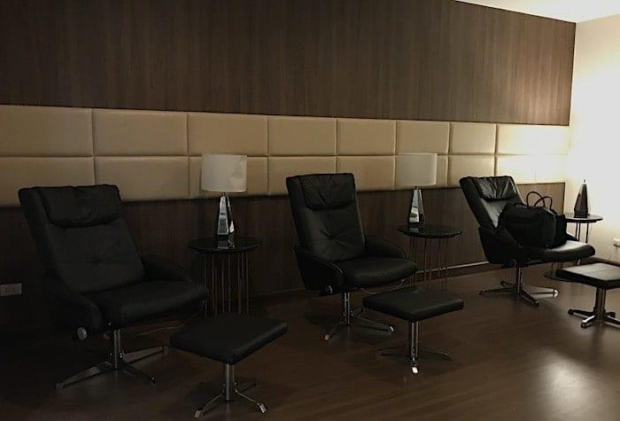 トルコ航空ラウンジの仮眠室の画像
