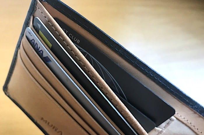 お財布のカード用隠しポケットの画像