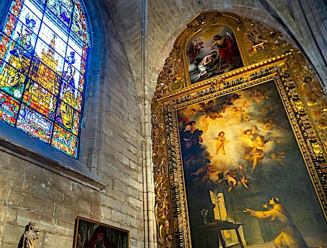 セビリア大聖堂のムリーリョの絵画画像