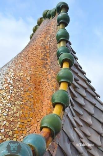 カサバトリョの屋根のアップ画像