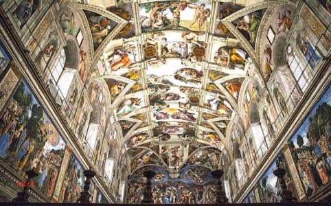 システィナ礼拝堂の天井画の画像